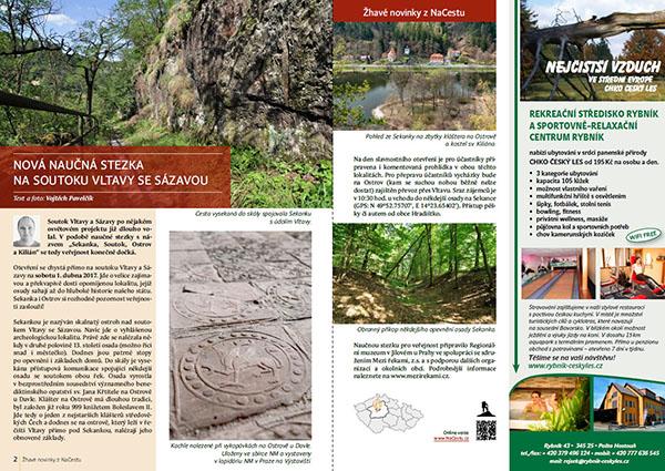 Nová naučná stezka na soutoku Vltavy a Sázavy / časopis NaCestu
