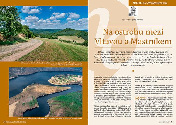 Na ostrohu mezi Vltavou a Mastníkem / časopis NaCestu