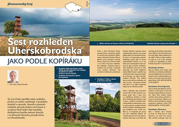 Šest rozhleden Uherskobrodska / časopis Turista
