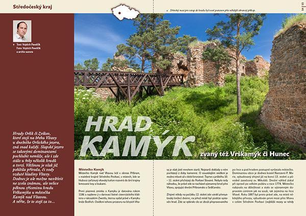 Hrad Kamýk zvaný též Vrškamýk či Hunec / časopis Turista