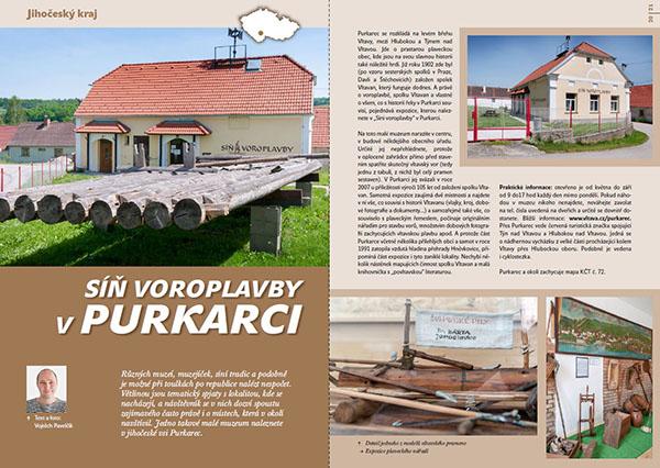Síň voroplavby v Purkarci / časopis Turista