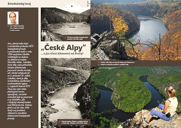 """""""České Alpy""""... a jen třicet kilometrů od Prahy / časopis Turista"""