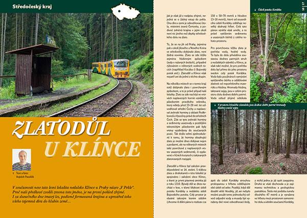 Zlatodůl u Klínce / časopis Turista
