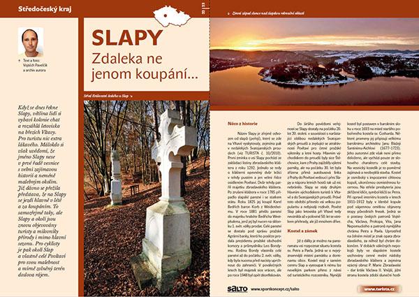 Slapy - Zdaleka ne jenom koupání... / časopis Turista