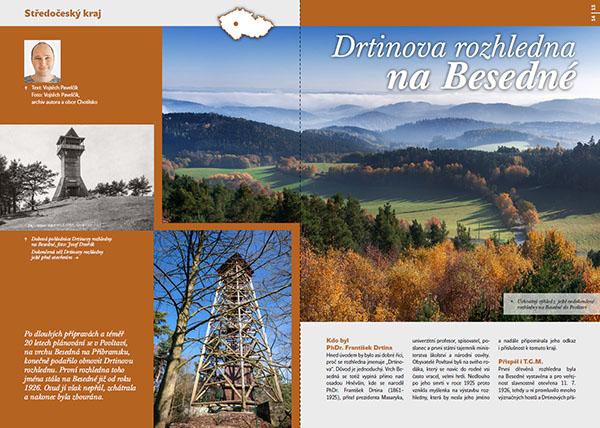 Drtinova rozhledna na Besedné / časopis Turista