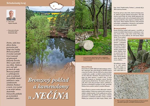 Bronzový poklad a kamenolomy u Nečína / časopis Turista