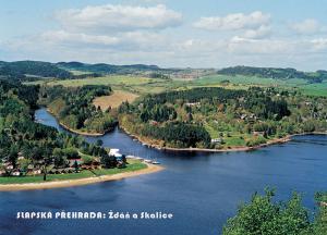 pohlednice / Slapská přehrada: Ždáň a Skalice / V07