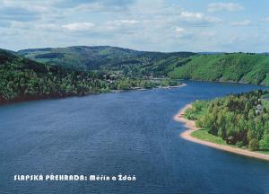 pohlednice / Slapská přehrada: Měřín a Ždáň / V08
