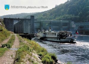 pohlednice / Štěchovice: přehrada na Vltavě / V19