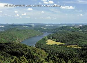 pohlednice / Střední Povltaví: partie na Vltavě u Sejc a Hrazan / V20
