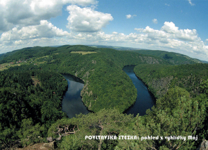 pohlednice / Povltavská stezka: pohled z vyhlídky Máj / V23