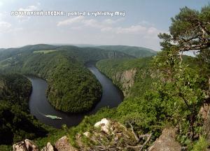 pohlednice / Povltavská stezka: pohled z vyhlídky Máj / V24