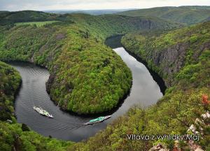 pohlednice / Vltava z vyhlídky Máj / V33