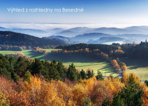 pohlednice / Výhled z rozhledny na Besedné / V44