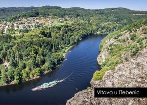 pohlednice / Vltava u Třebenic / V51