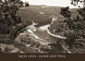 pohlednice / Sejcký ostrov – zaniklé údolí Vltavy / VR07