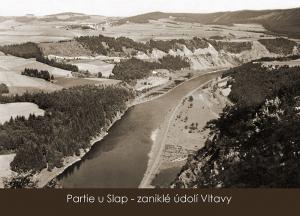 pohlednice / Partie u Slap – zaniklé údolí Vltavy / VR08