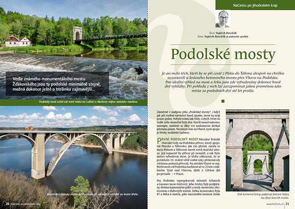 Podolské mosty / časopis NaCestu